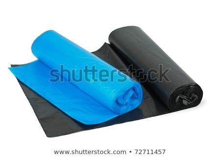 mavi · çöp · çanta · çöp · yalıtılmış · beyaz - stok fotoğraf © digitalr