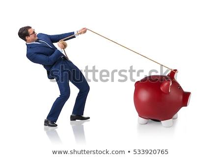 Businessman roped isolated on white background Stock photo © Elnur