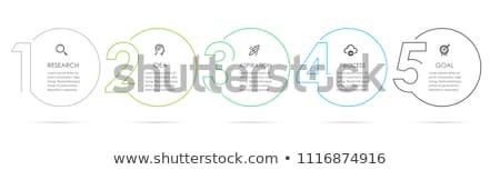 Infografika lépcső sablon terv grafikon diagram Stock fotó © SArts