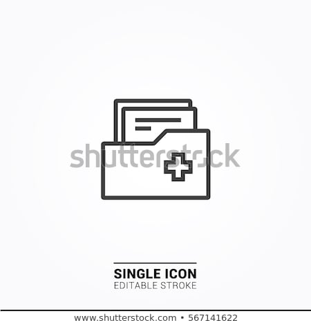 medical chart clipboard illustration design stock photo © alexmillos
