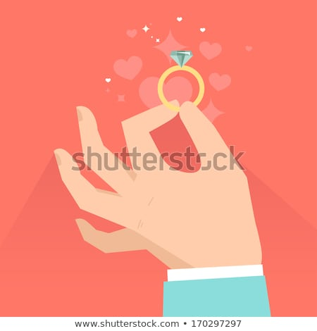 Wedding rings icon, cartoon style Stock photo © ylivdesign