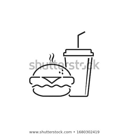 Burger Cola фотография чизбургер пластина бумаги Сток-фото © shai_halud