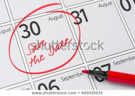 Mettre date écrit calendrier août 30 Photo stock © Zerbor