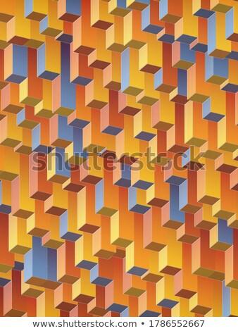 Flat multi gradient geometric rectangle background Stock photo © igor_shmel