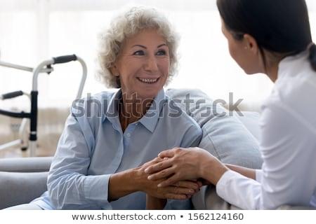 Mosolyog idős nő klinika portré boldog Stock fotó © wavebreak_media