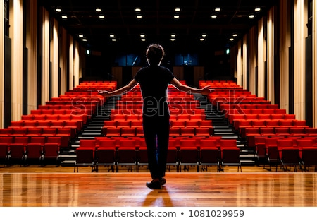 Actors practicing play on stage in theatre Stock photo © wavebreak_media