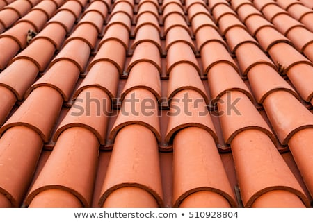 Traditional red clay tile roof background. Stock photo © tuulijumala