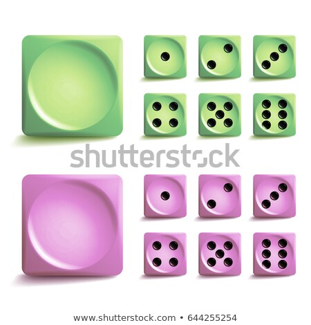playing dice vector set 3d realistic cubes with dot numbers good for playing board casino game is stock photo © pikepicture