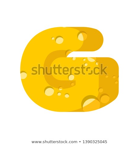 Käse Schriftart Symbol Alphabet Milchprodukte Stock foto © popaukropa