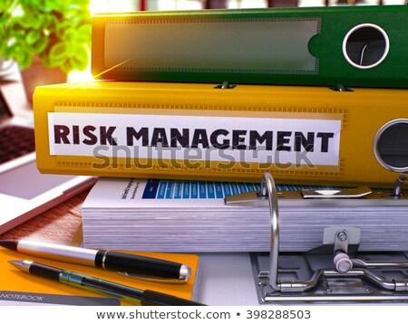 Ellenőrzés citromsárga gyűrű elmosódott kép iroda Stock fotó © tashatuvango