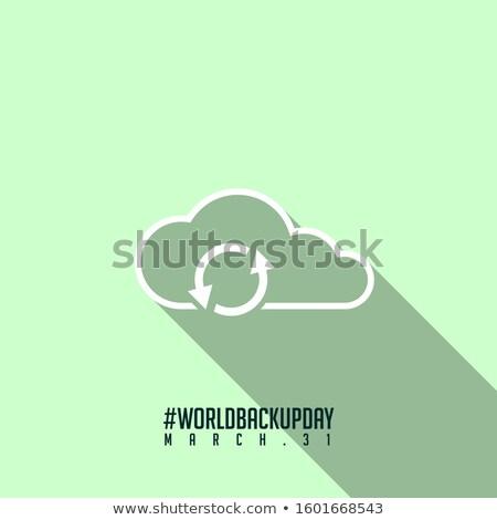données · icône · nuage · sauvegarde · signe · nuage - photo stock © olena