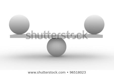 Illusztráció absztrakt híd és két gömb Stock fotó © CoraMax