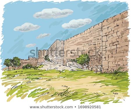 Ancient city wall Stock photo © bbbar