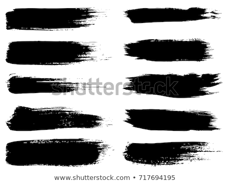 black watercolor background made with paint brush stroke Stock photo © SArts