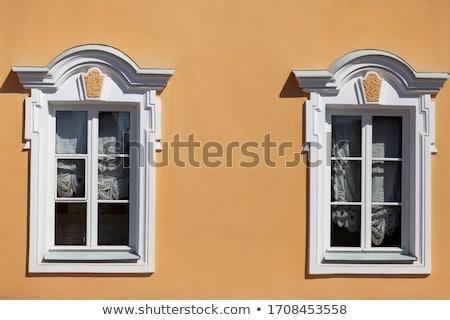 Pencereler kapalı ev sanat kale beyaz Stok fotoğraf © alessandro0770