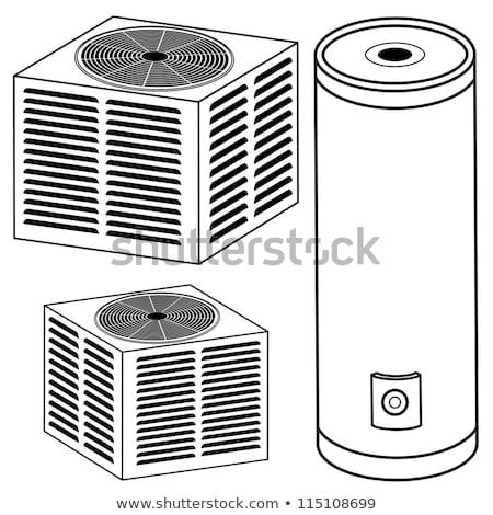 Klima clipart görüntü bilgisayar teknoloji Metal Stok fotoğraf © vectorworks51
