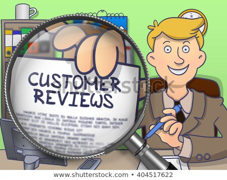 Customer Reviews through Magnifier. Doodle Concept. Stock photo © tashatuvango