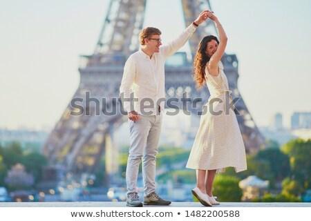 Aile dans Eyfel Kulesi kadın kız adam Stok fotoğraf © IS2
