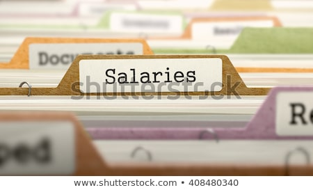 salaries   folder name in directory stock photo © tashatuvango