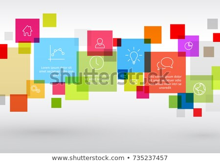 Szablon różny opisowy wektora Zdjęcia stock © orson