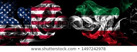 футбола пламя флаг Кувейт черный 3d иллюстрации Сток-фото © MikhailMishchenko