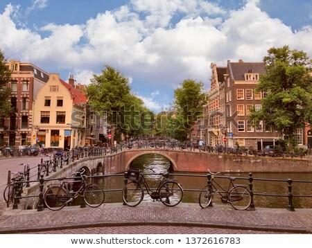 Amsterdam noche tiro Países Bajos primavera ciudad Foto stock © dirkr
