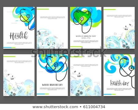 Set of Medical posters. Medical background. Health care. Vector medicine illustration. Stock photo © Leo_Edition