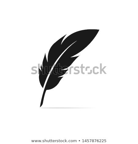 Stockfoto: Veer · pen · cartoon · inkt · ontwerp · achtergrond