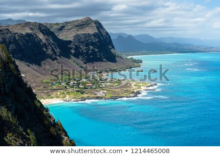 Playa paisaje costa Hawai EUA Foto stock © dirkr