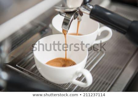 beyaz · fincan · ayakta · kahve - stok fotoğraf © TanaCh