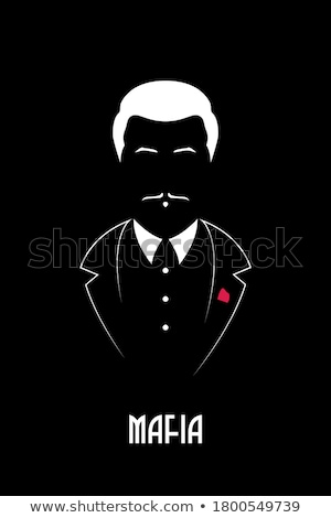 maffia · baas · cartoon · pak · man - stockfoto © jossdiim