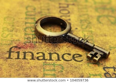 Euro kulcsok siker számítógép billentyűzet kék pénz Stock fotó © paviem