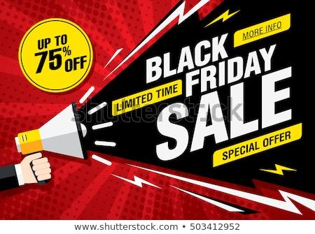 Mega sale isolated vector sticker Stock photo © studioworkstock
