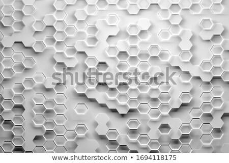 抽象的な 六角形 線 表面 技術 ストックフォト © anadmist