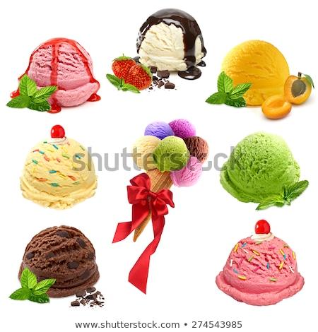 Stockfoto: Vanille · citroen · room · aardbeien · dessert · eigengemaakt