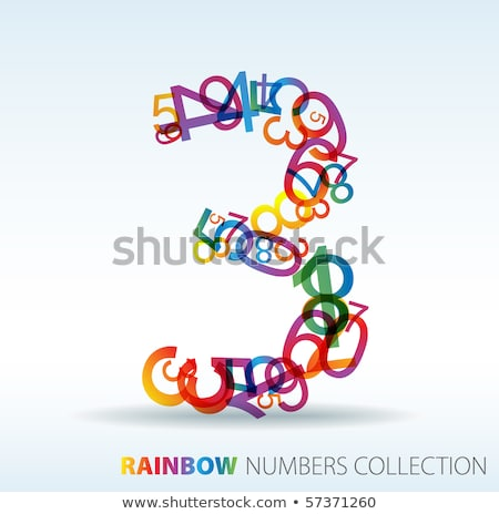 number three made from colorful numbers stock photo © orson