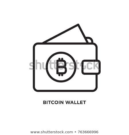 Bitcoin pénztárca ikon modern számítógép hálózat Stock fotó © WaD