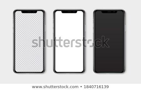 realista · telefone · móvel · tela · telefone · tecnologia · preto - foto stock © said