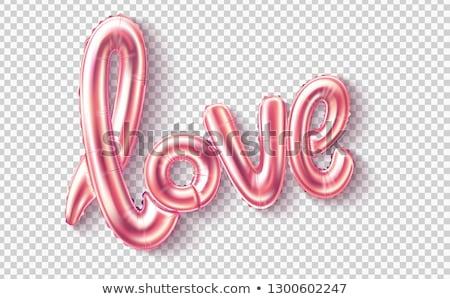 幸せ · バレンタインデー · 実例 · 赤 · 中心 · バルーン - ストックフォト © articular