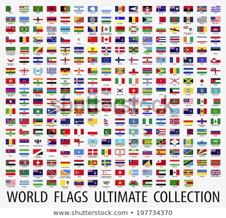 Japão bandeira conjunto isolado branco projeto Foto stock © doomko