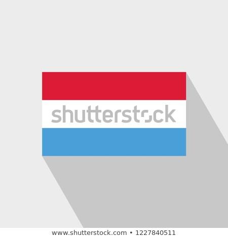 Luxemburg vlag geïsoleerd moderne schaduw ontwerp Stockfoto © kyryloff