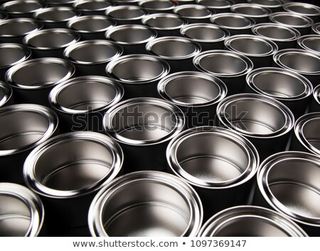 Zamknięte metal puszka etykiety biały pojemnik Zdjęcia stock © Digifoodstock