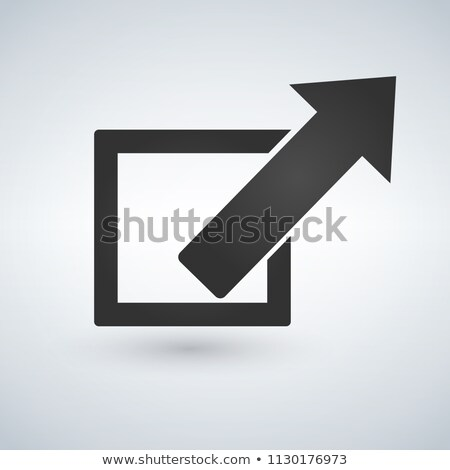 Jump arrow icon, out of box concept. vector illustration isolated on whitebackground. Stock photo © kyryloff