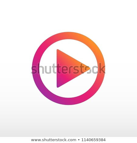 Video play icon. Gradient color. Video play social network. stock photo © AisberG