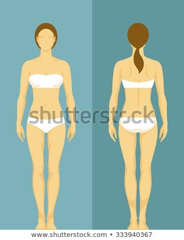Standing woman in underwear Stock photo © Pilgrimego