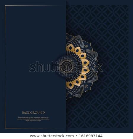 Prim mandala altın afişler dizayn sanat Stok fotoğraf © SArts