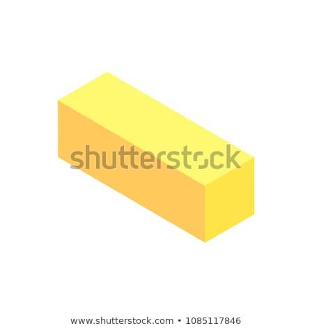 Vertical Geometric Figure Template, Yellow Cuboid Stock photo © robuart