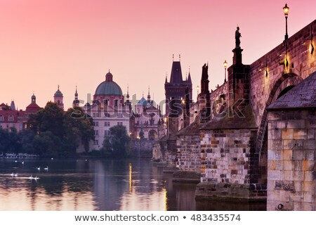 dawn over charles bridge stock photo © givaga