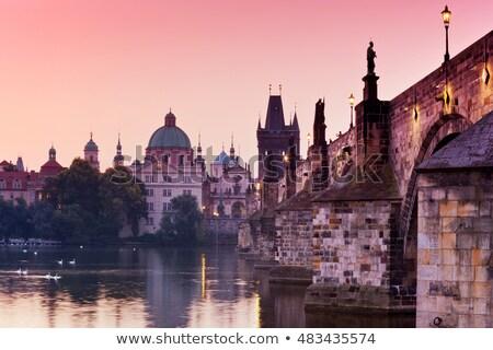 świcie most rzeki niebo budynku miasta Zdjęcia stock © Givaga