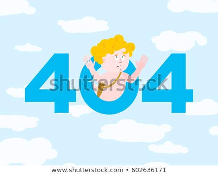 Error 404. Cupid surprise. Page not found template for web site. Stock photo © popaukropa